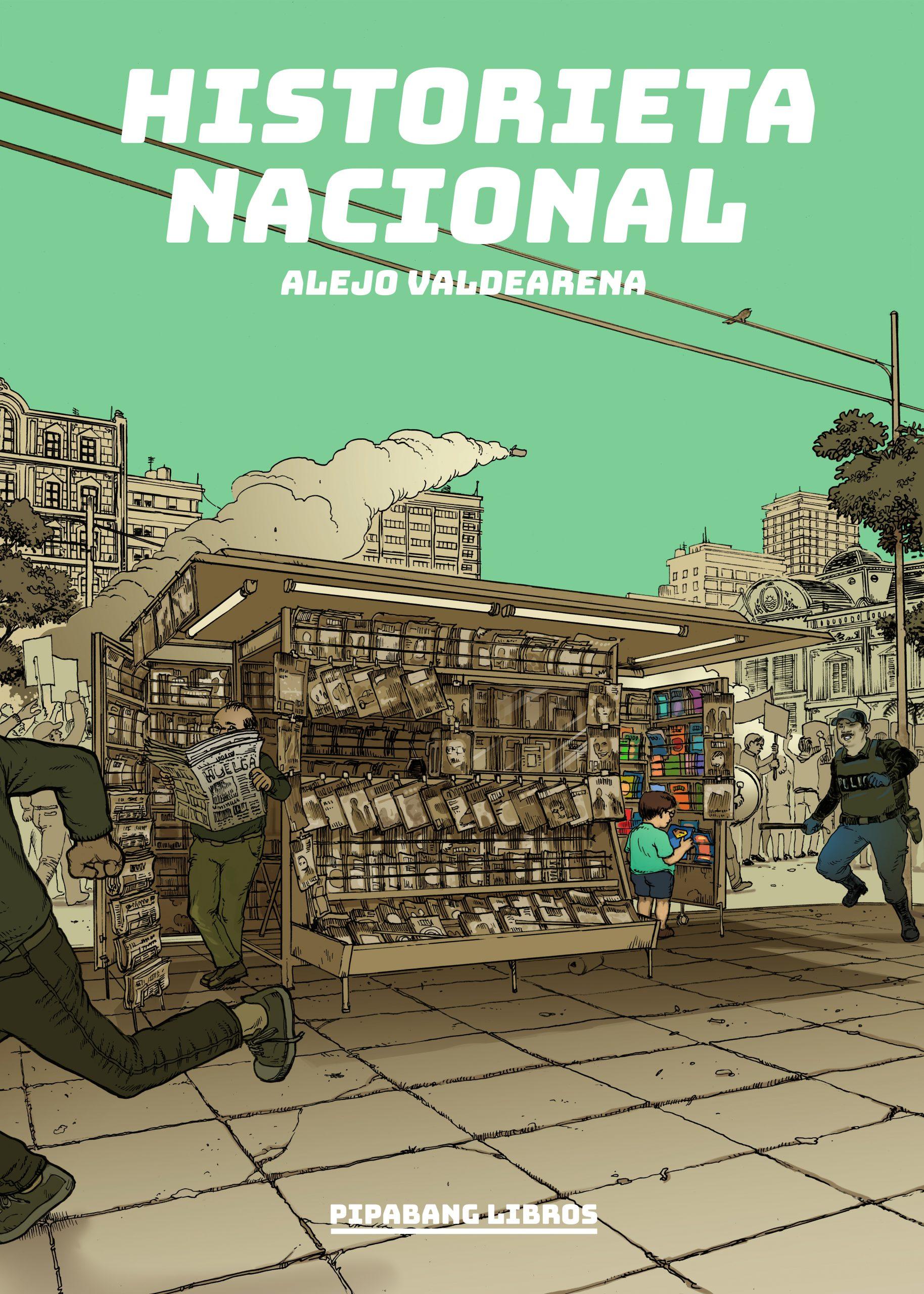 Portada de la novela HIstorieta nacional (de Alejo Valdearena)